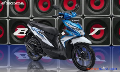 All new honda beat esp warna biru electro