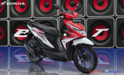 All new honda beat esp warna merah putih