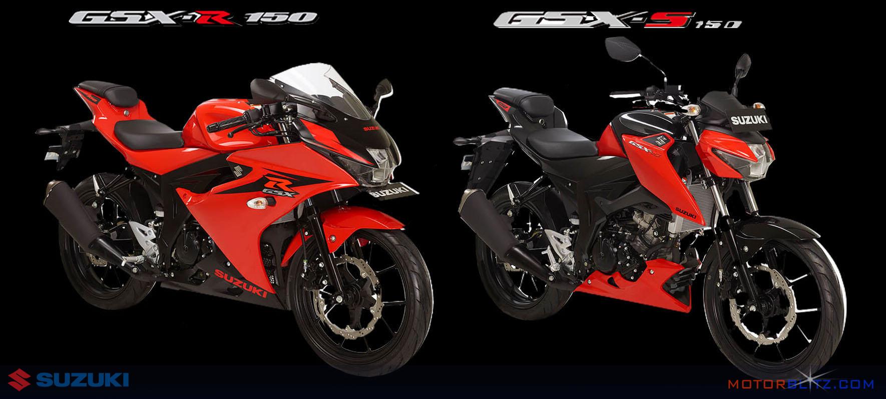 Gsx R150 Dan Gsx S150 Warna Merah Motorblitz